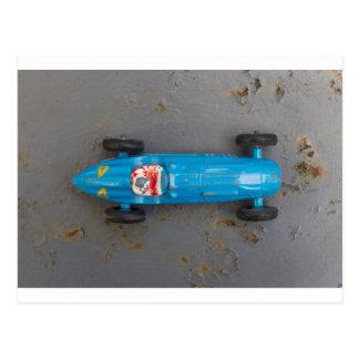 Blue toy car postcard