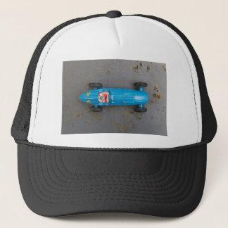 Blue toy car trucker hat