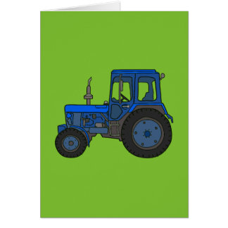 Blue tractor card