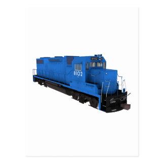 Blue Train Engine: Postcard