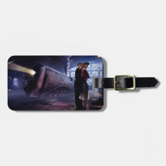 Blue Train Luggage Tag