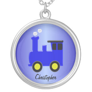 Blue Train Silver Plated Necklace