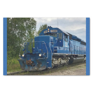 Blue Train Tissue Paper