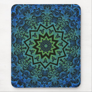 Blue Tranquility Mandala Mouse Pad