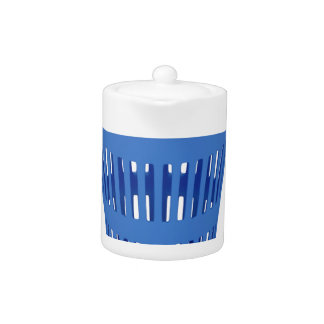 Blue trash can