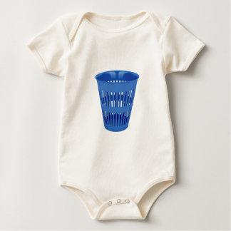 Blue trash can baby bodysuit