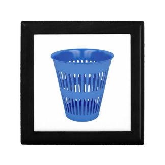 Blue trash can gift box