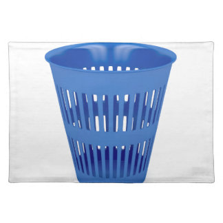 Blue trash can placemat