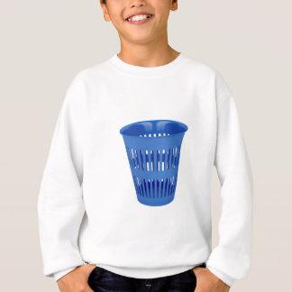 Blue trash can sweatshirt