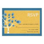 Blue Tree, Bar Mitzvah RSVP Custom Invitation Card