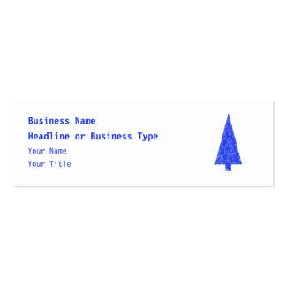 Blue Tree. Fir Evergreen Christmas Tree. Business Card Templates