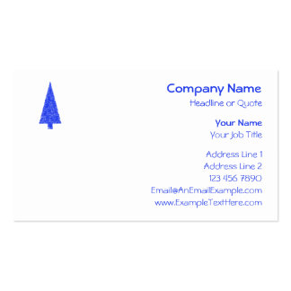 Blue Tree. Fir Evergreen Christmas Tree. Business Cards