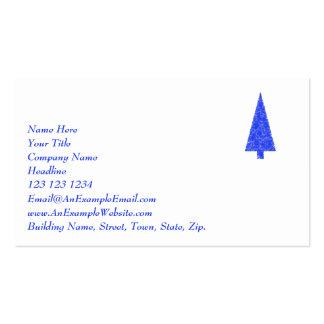 Blue Tree. Fir Evergreen Christmas Tree. Business Card