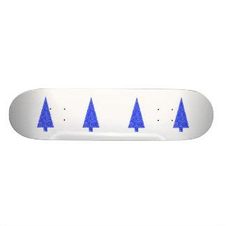 Blue Tree. Fir Evergreen Christmas Tree. 18.1 Cm Old School Skateboard Deck