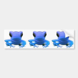Blue Tree Frog Bumper Stickers