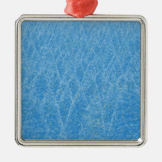 blue tree metal ornament