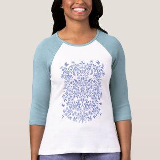 Blue Tree of Life Ladies Raglan Jersey T Shirt