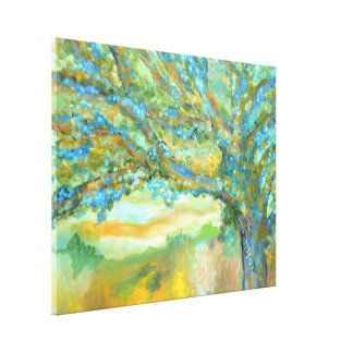 Blue tree painting | tree landscape art canvas