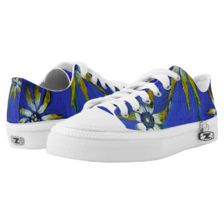 Blue trendy art fashion  Original Art Low Tops