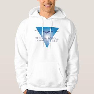 Blue Triangle Logo Adult Hooded Sweatshirt