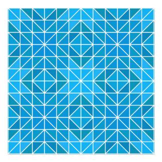 Blue triangle mosaic photographic print