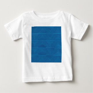 blue triangle pattern baby T-Shirt