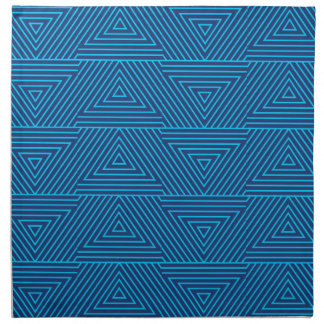 blue triangle pattern napkin