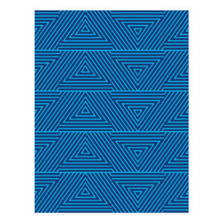 blue triangle pattern postcard