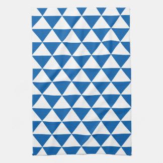 Blue Triangle Pattern Towels