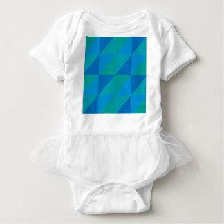 Blue Triangles Baby Bodysuit