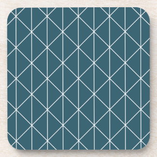 blue triangles drink coasters