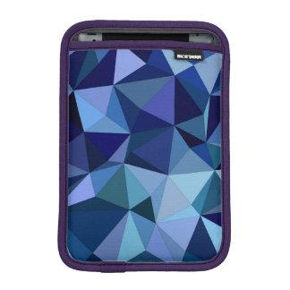 Blue triangles iPad mini sleeve