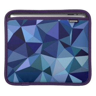 Blue triangles iPad sleeve