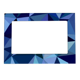 Blue triangles magnetic picture frame
