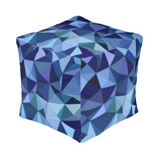 Blue triangles pouf