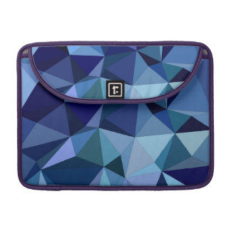 Blue triangles sleeve for MacBook pro