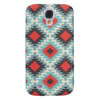 Blue Tribal Abstract Galaxy S4 Covers