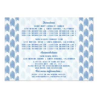 Blue Tribal Arrows Information Card