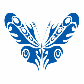 blue tribal butterfly design cut outs