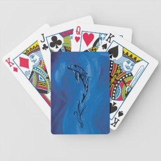 Blue Tribal Dolphin Poker Deck