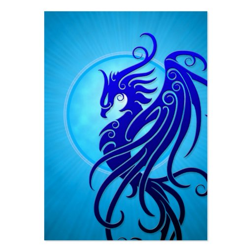 Blue Tribal Phoenix Business Card Templates
