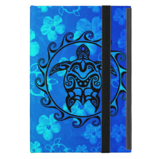 Blue Tribal Turtle Sun iPad Mini Case
