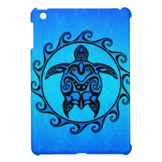 Blue Tribal Turtle Sun Cover For The iPad Mini