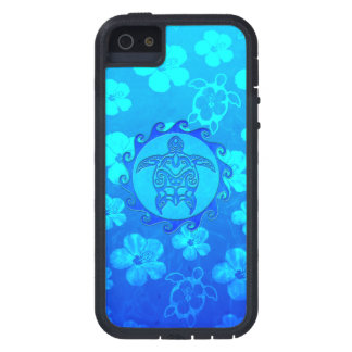 Blue Tribal Turtle Sun iPhone 5 Case