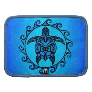 Blue Tribal Turtle Sun Folio Planner