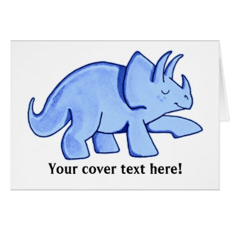 Blue Triceratops Card