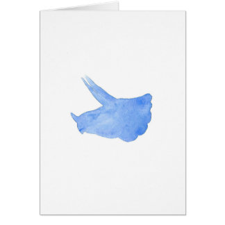 Blue Triceratops Head Card
