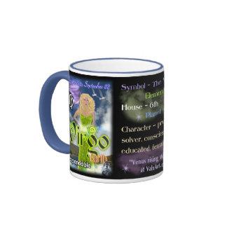 Blue trim Virgo Zodiac Coffee Mugs