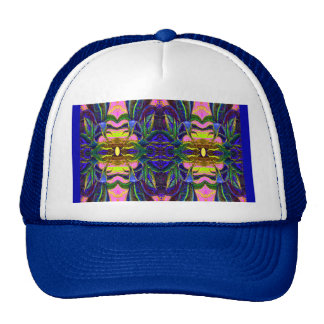 Blue Tropical Lagoon Pattern  by sharles Fine Art Hats