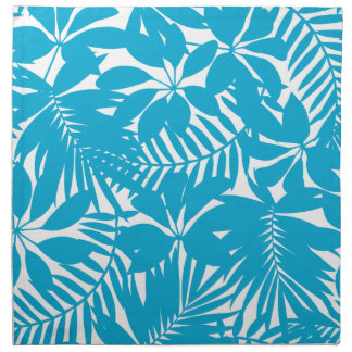 Blue tropical napkin
